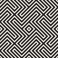 Abstract geometric pattern with stripes, lines. Seamless vector background. Black and white lattice texture.