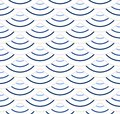 Abstract geometric pattern with wavy lines, stripes. A seamless vector background. Beige and white ornament