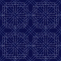 Abstract geometric polka dot retro seamless pattern