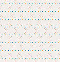 Abstract geometric polka dot seamless vector pattern. Vintage colors dots.