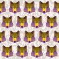 Abstract geometric polygonal wolf seamless pattern background Stock Photography