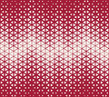 Abstract geometric red deco art halftone hexagone and triangle print pattern