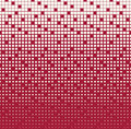 Abstract geometric red gradient square halftone pattern