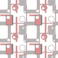 Abstract geometric retro seamless pattern background