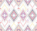 Abstract geometric seamless aztec pattern Royalty Free Stock Image