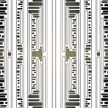Seamless rectangles pattern white brown black Royalty Free Stock Photo