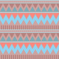 Abstract geometric seamless pattern. Aztec style with triangle and line tribal Navajo pattern. blue beige pink brown geometric pri Royalty Free Stock Photo