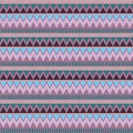 Abstract geometric seamless pattern. Aztec style with triangle and line tribal Navajo pattern. beige blue brown lilac purple geome Royalty Free Stock Photo