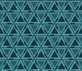 Abstract geometric seamless pattern, background. Graphic mosaic of triangles of blue color. Royalty Free Stock Photo