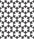 Abstract geometric seamless pattern. Black and white minimalist monochrome watercolor artwork.