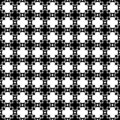 Abstract geometric seamless pattern in black and white, vector. Design, industrial.