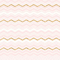 Abstract geometric seamless pattern with chevron. Gold glitter