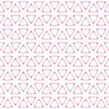 Abstract geometric seamless pattern with rounded triangles.