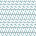 Abstract geometric seamless vector pattern with shapes and lines on light blue background