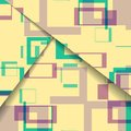 Abstract geometric shape illustration colorful digital composition Stock Photography