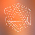 Abstract geometric shape with orange background Royalty Free Stock Image