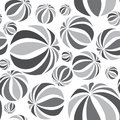Abstract geometric striped balls pattern circular texture seamless for wallpaper surface or cover fun funky background black and Royalty Free Stock Photography