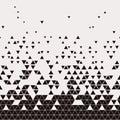 Abstract Geometric Techno Triangle Horizontally Seamless Pattern Royalty Free Stock Photo