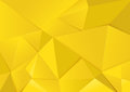 Abstract geometric yellow tone polygon and triangles background