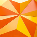 Abstract geometrical background with orange triangles with detail Royalty Free Stock Photos