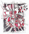 Abstract geometrical drawing Royalty Free Stock Image