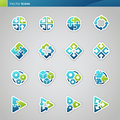 Abstract geometrical icons. Stock Photography