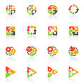 Abstract geometrical icons.  Vector logo template  Royalty Free Stock Images