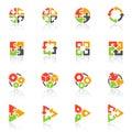 Abstraktní geometrické ikony