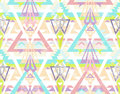 Abstract geometrisch naadloos Azteeks patroon. Royalty-vrije Stock Afbeelding