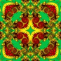 Abstract geometry of modern art. Mystical eastern mandala. floral kaleidoscope traditional design. Psychedelic symmetrical backgro