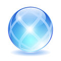 Abstract glass ball vector illustration Royalty Free Stock Photography