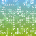 Abstract glimmering background in greenish blue spectrum with bokeh effect Royalty Free Stock Images
