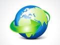 Abstract globe with arrow Royalty Free Stock Photo