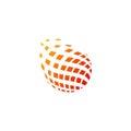 Abstract globe digital technology logo