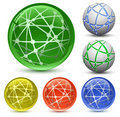 Abstract Globe Icon Set Stock Photos