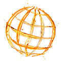 Abstract globe from orange water Royalty Free Stock Photo