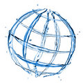 Abstract globe from water splashes Royalty Free Stock Photo