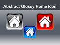 Abstract glossy home icon button Royalty Free Stock Images