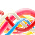 Abstract glossy spiral twirls background Stock Photo