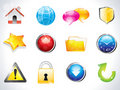 Abstract glossy web icons Royalty Free Stock Images