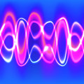 Abstract glow wave lines vector illustration Royalty Free Stock Photography