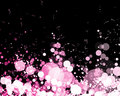 Abstract glowing lights in pink shade Stock Image