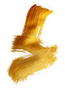 Abstract gold background with acrylic paint brush on white background Royalty Free Stock Photo