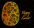 Abstract Gold Easter Egg With ...