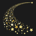 Abstract gold falling star Royalty Free Stock Photo
