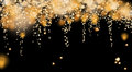 Abstract gold fireworks background Royalty Free Stock Photo