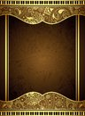 Abstract gold floral frame illustration of background Stock Image