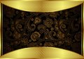 Abstract gold and floral frame illustration of background Stock Images