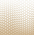 Abstract gold geometric triangle design halftone pattern Royalty Free Stock Photo