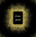 Abstract gold glitter background. Bright sparkles for holiday vector card Royalty Free Stock Photo